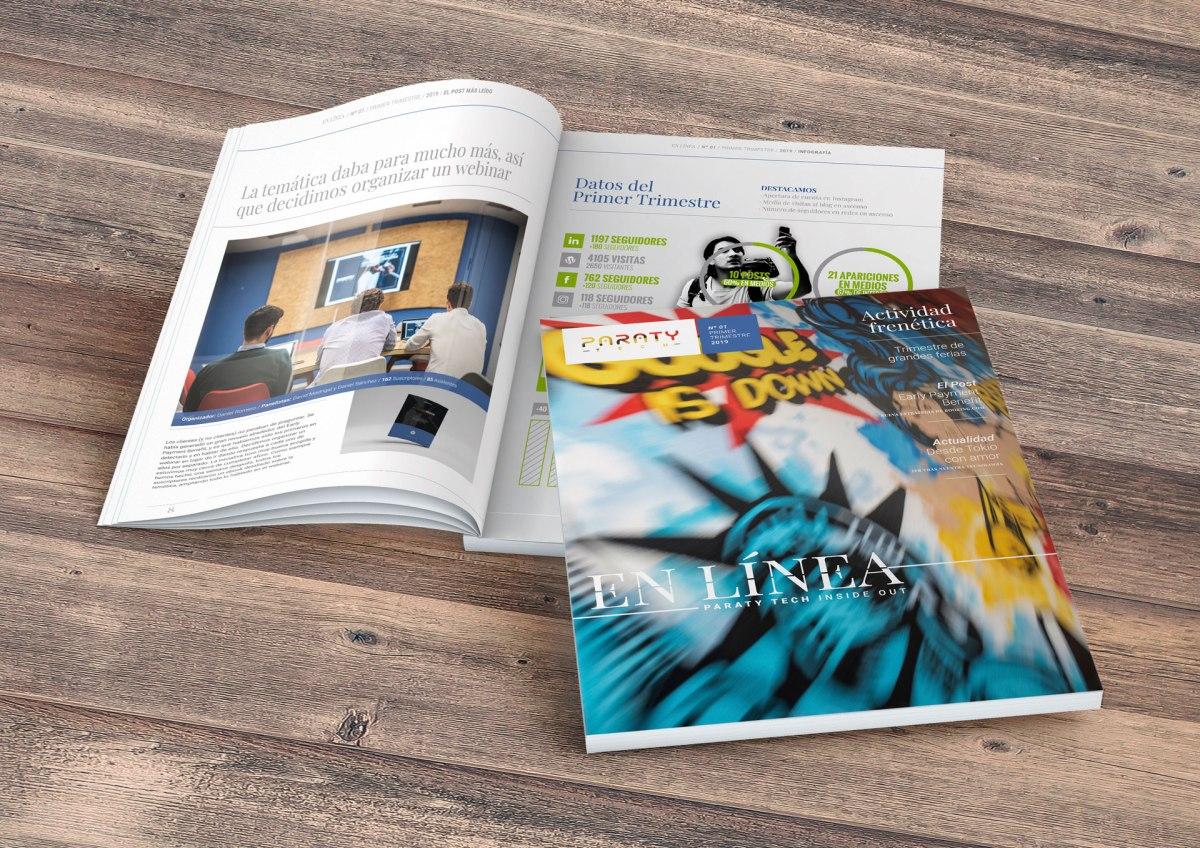 Lanzamos nuestra propia revista para asegurarnos de que estés siempre a la última: EN LÍNEA es Paraty Tech Inside Out